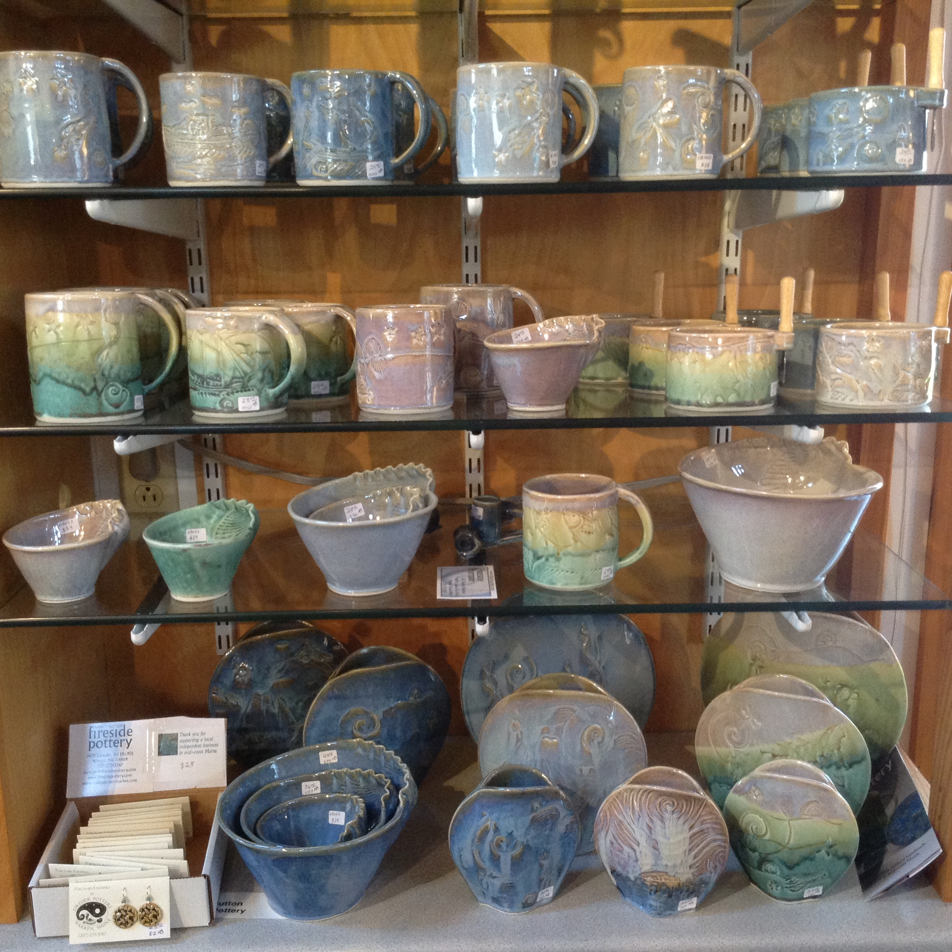Fireside Pottery display