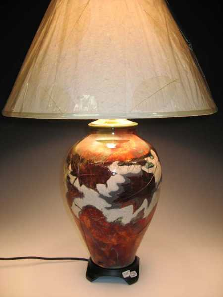 Living room Raku leaf lamp