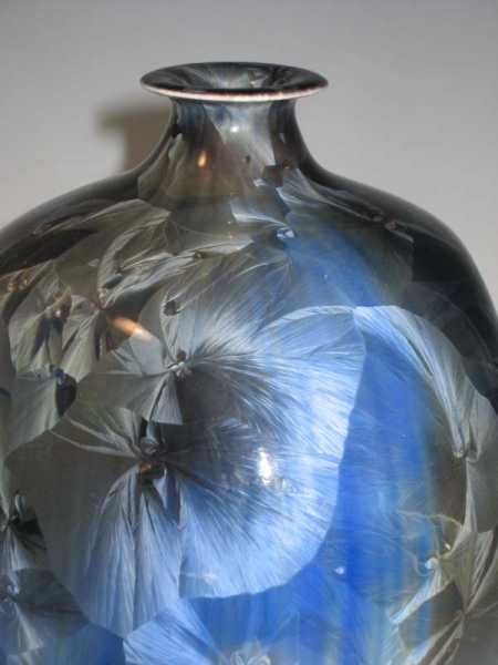 Fine Porcelain Crytalline vase by Duly Mitchell