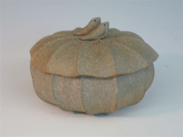 Nature inspired functional Stoneware covered pots