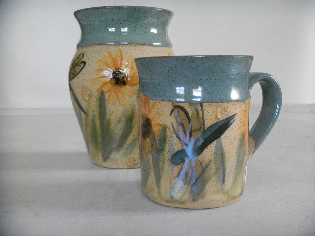 the-potters-house-dragonfly-pattern-mug-and-vase