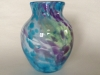 Atlantic Art Glass blue vase