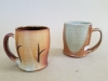 BL soda fired mugs