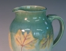 Pitcher collectors love this one of a kind porcelain leaf design