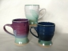 trio of Cathy Hammond mugs
